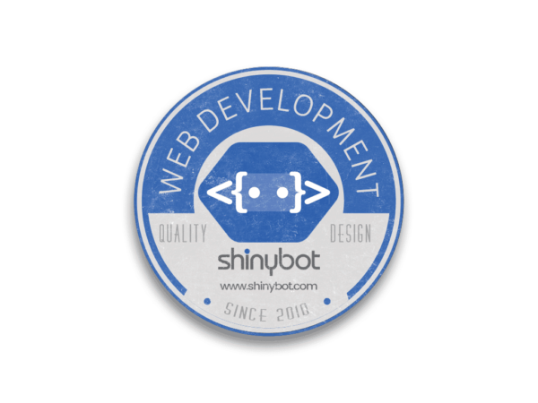 Shinybot Round Sticker