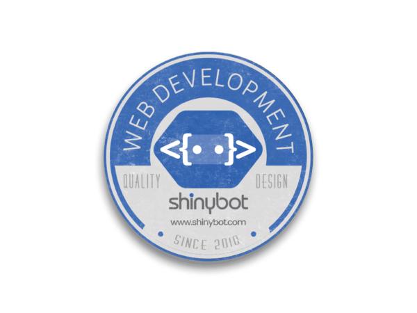 Shinybot Round Sticker