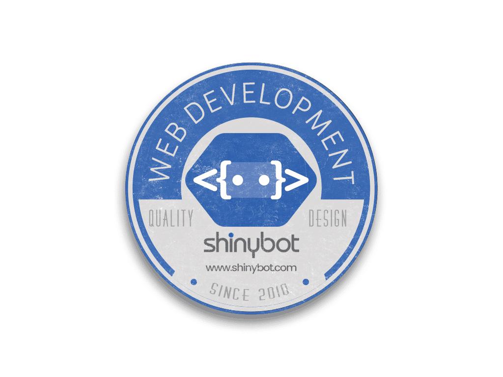 dd4f40d4 Shinybot Round Sticker - Shinybot