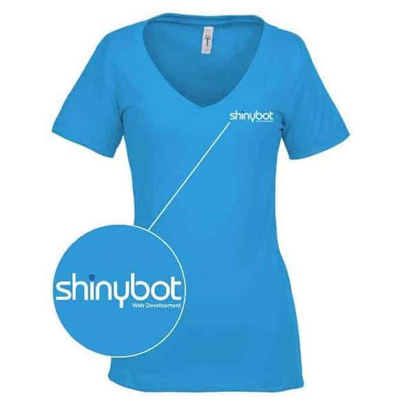 Shinybot v neck shirt
