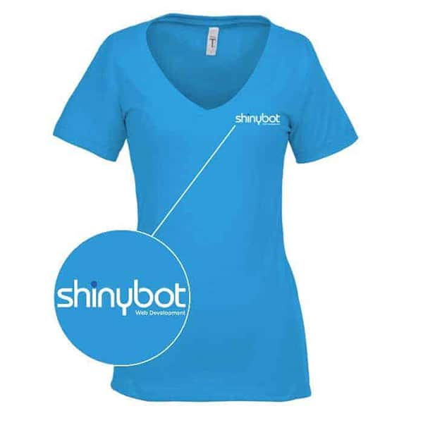 Shinybot v neck shirt